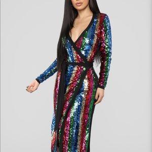 Multi colored sequin dress - NEVER WORN